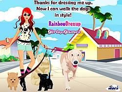 Dog Walking Dress Up