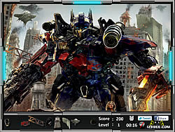 Hidden Object fun game Transformers: Dark of the Moon