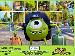 Monster University Zigzag Puzzle