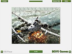Plane Jigsaw Game