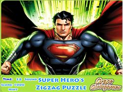 Super Hero's Zigzag Puzzle