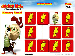 Chicken Little – Memory Game